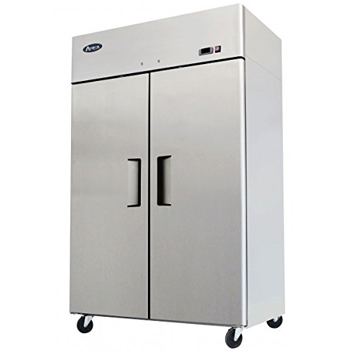 ATOSA 52 Inch Freezer Double Solid Doors Stainless Steel ...