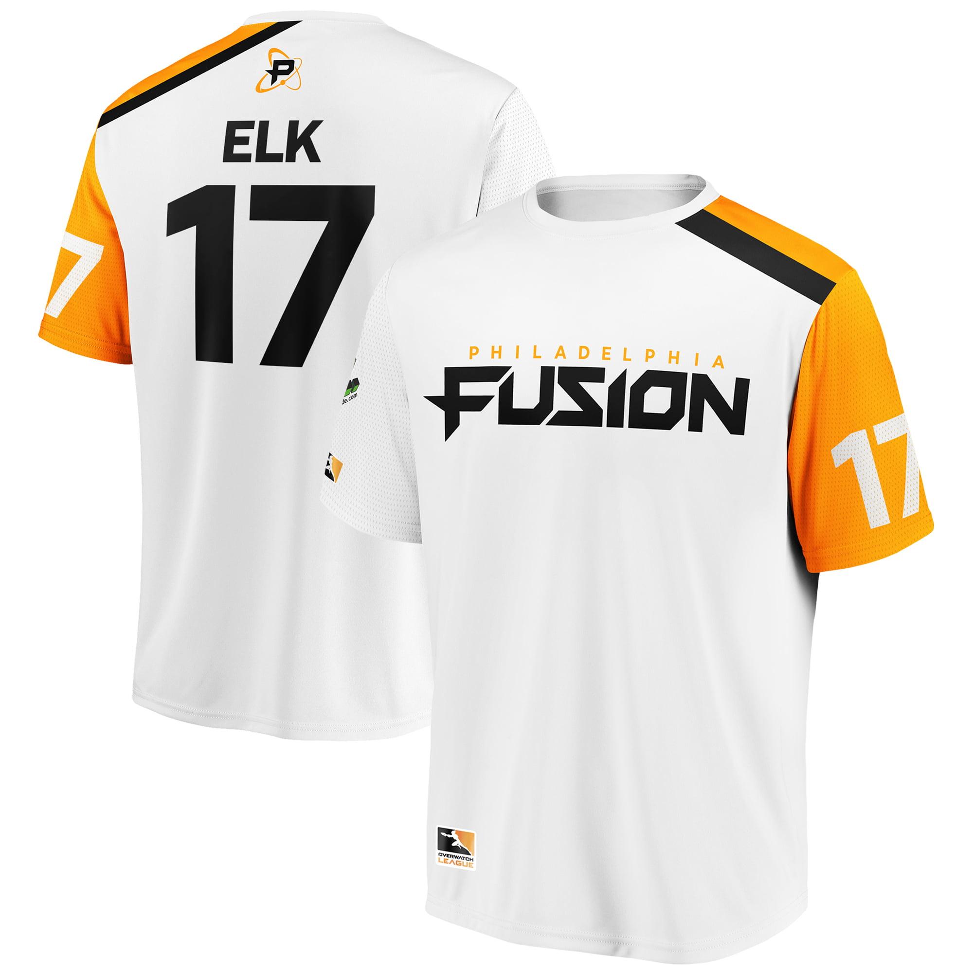 Elk Philadelphia Fusion Overwatch League Replica Away Jersey - White