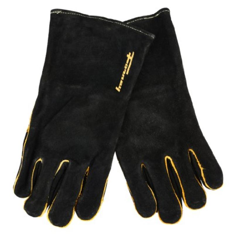 X-Large Black Leather Men's Welding Gloves Forney Welding Accessories 53426