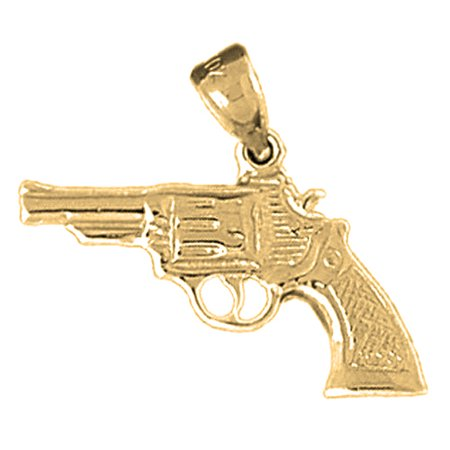 Yellow gold plated 925 sterling silver revolver gun pendant 23 mm yellow gold plated 925 sterling silver revolver gun pendant 23 mm approx aloadofball Gallery