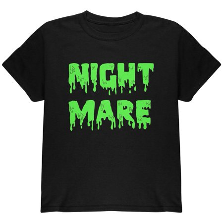 Halloween Nightmare Horror Slime Dripping Text Youth T Shirt
