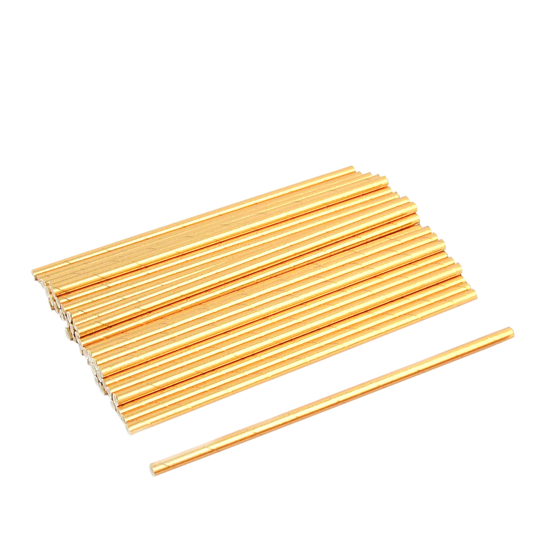 7.8 Inches Length Birthday Paper Beverage Drinking Straws 50ct