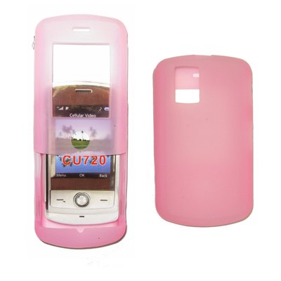 Premium Pink Silicone Gel Skin Cover Case for LG Shine CU720 [Accessory Export Brand Packaging]