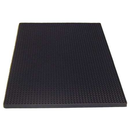 TABLECRAFT PRODUCTS COMPANY Rubber Service Mat, Black 1218BK