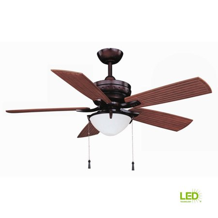 Hampton Bay Four Winds 54 Led Indoor Outdoor Bronze Ceiling Fan W Light Kit