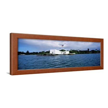 Arizona Memorial Honolulu - Uss Arizona Memorial, Pearl Harbor, Honolulu, Hawaii, USA Framed Print Wall Art By Panoramic Images