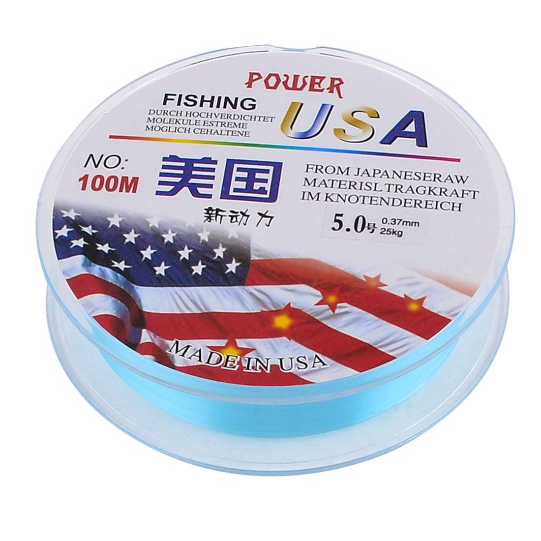 Unique Bargains 109Yds 100M 0.37mm 55 lbs Nylon Spool Fishing Line by