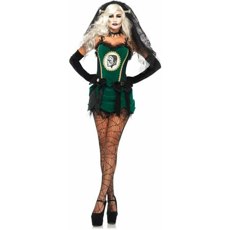 Leg Avenue 4-Piece Deluxe Bride of Frankenstein Adult Halloween Costume](Frankenstein Head Piece)