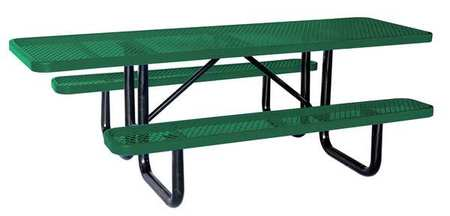 """4HUT1 96"""" W x62"""" D ADA Picnic Table, Green by ZORO SELECT"""