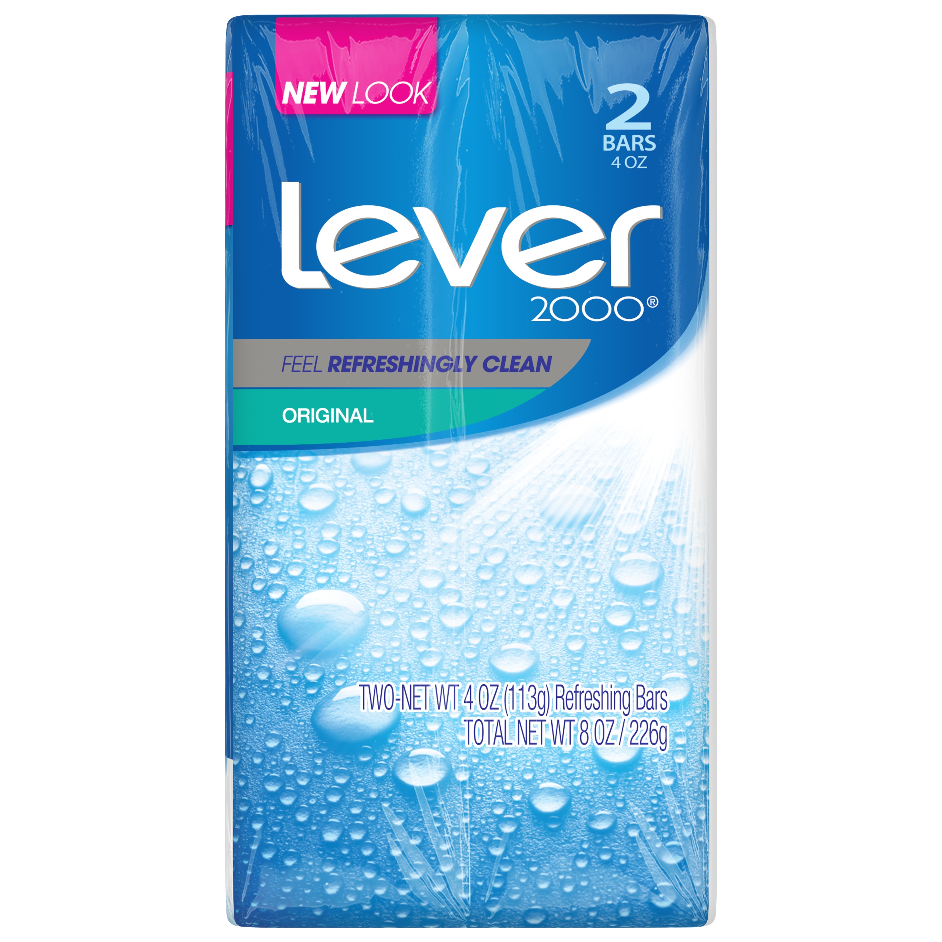 Lever 2000 Bar Soap Original 4 oz, 2 Bar