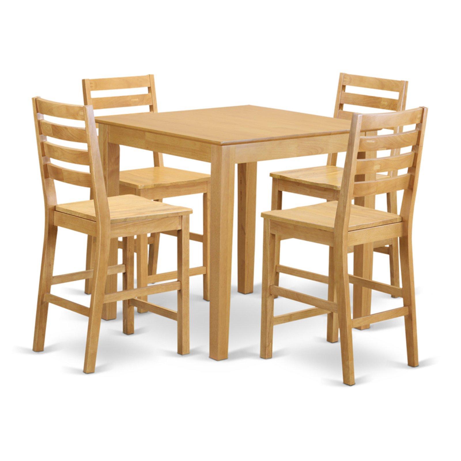 East West Furniture Pub 5 Piece High Ladder Dining Table Set