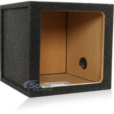 "atrend 12ks 12"" single sealed square subwoofer enclosure for kicker l5 and l7 subwoofers"
