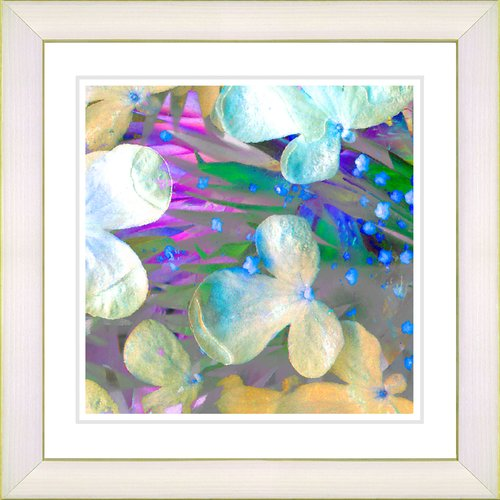 Studio Works Modern ''Pastel Party Flower'' by Zhee Singer Framed Graphic Art