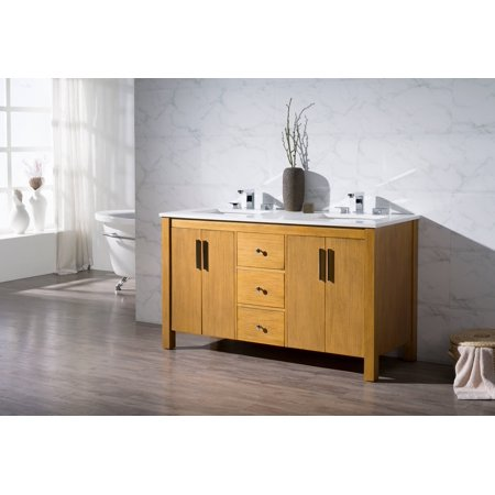 Windsor 59 inch double sink bathroom vanity - Walmart bathroom vanities with sink ...