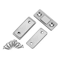 EOTVIA Door Catch,Ultra Thin Strong Magnetic Door Catch Latch for Furniture Cabinet Cupboard with Screws, Door Catch Latch