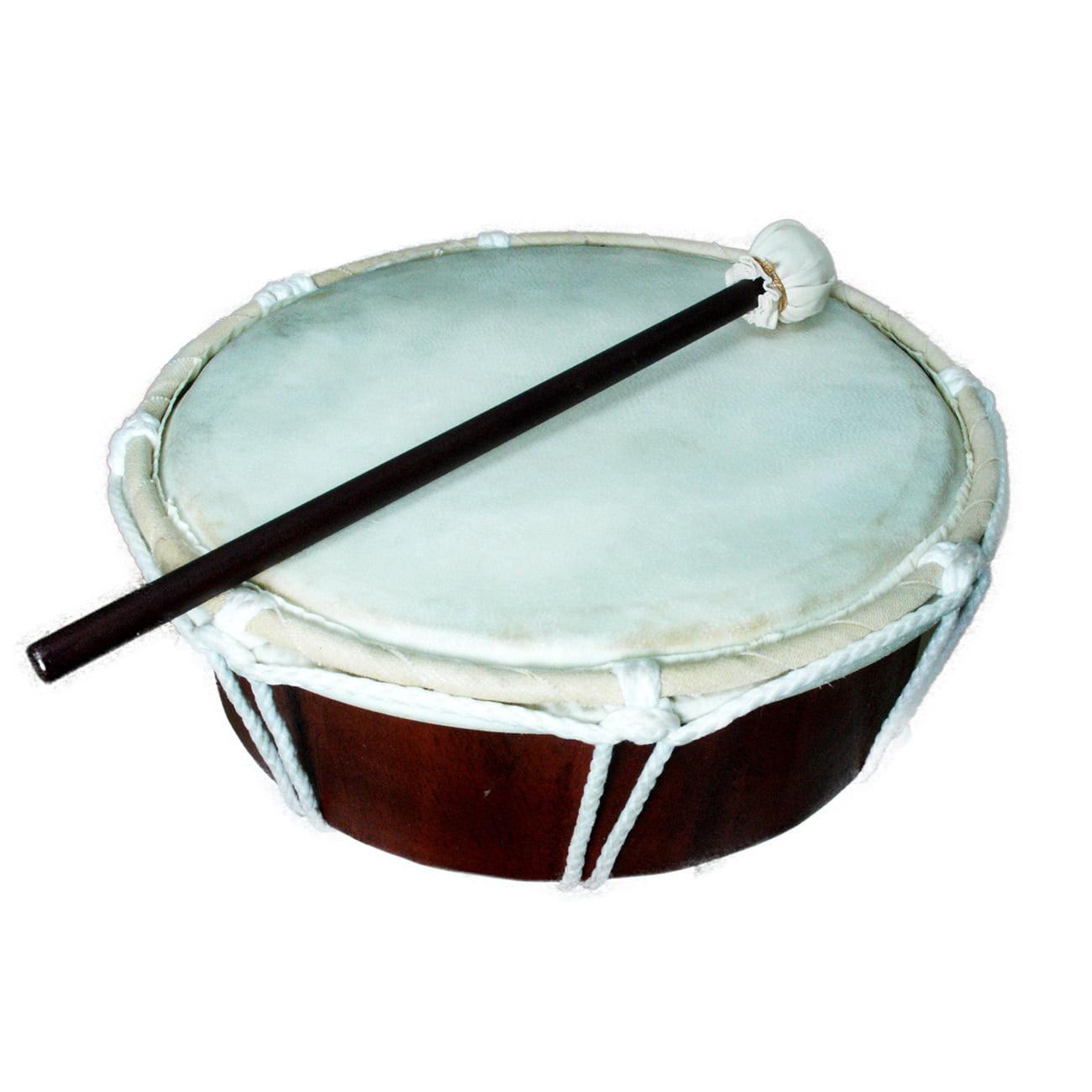 Stoneage Arts Handmade Drum W/Stick Natural (Indonesia)