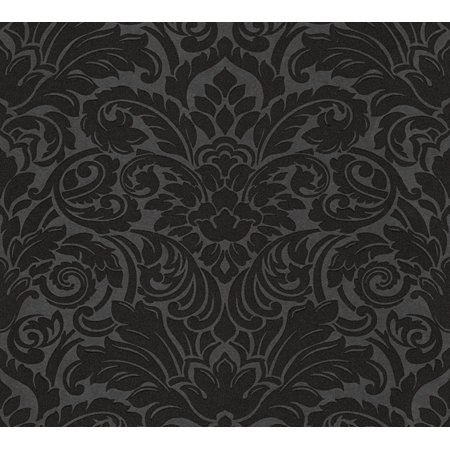 Luxury - A High Quality Ensemble Black Wallpaper Roll, Traditional Wall Decor