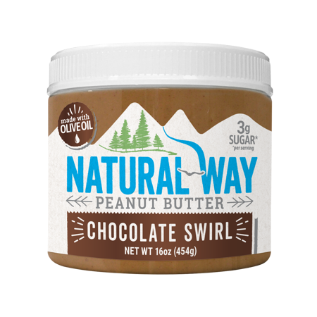 Natural Way Light Crunch Chocolate Swirl Peanut Butter Made with Olive Oil, 16 (Best Nut Butter For Keto)