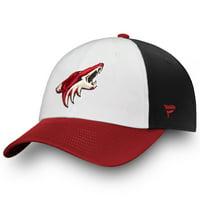 Arizona Coyotes Fanatics Branded Iconic Fundamental Adjustable Hat - White/Garnet - OSFA