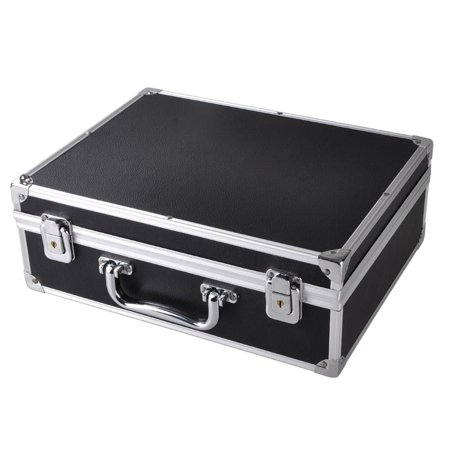 Professional Tattoo Kit Case W/ Lock Key Aluminum Carry Storage Supply Bag Potable 12.6x9.8x 4.6