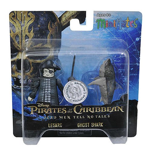 Pirates of the Caribbean Minimates Dead Men Tell No Tales Toys R Us Exclusive Lesaro /& Ghost Shark 2-Pack Diamond Select Toys