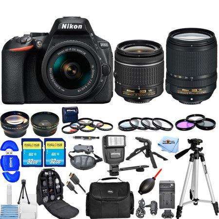 nikon d5600 dslr camera w af p 18 55mm 18 140mm vr lens all you need kit. Black Bedroom Furniture Sets. Home Design Ideas