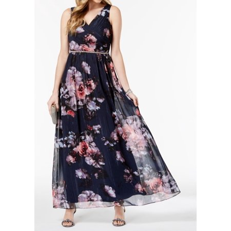 8c64cdf091 SL Fashions Dresses - SL Fashions Womens Embellished Floral Gown Dress -  Walmart.com