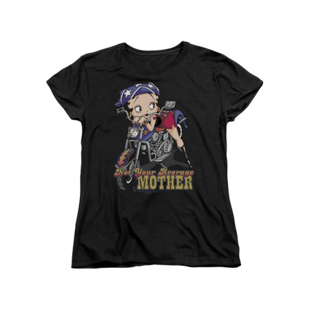 Betty Boop Cartoon Not Your Average Mother Women's T-Shirt (Your Mom Shirts)