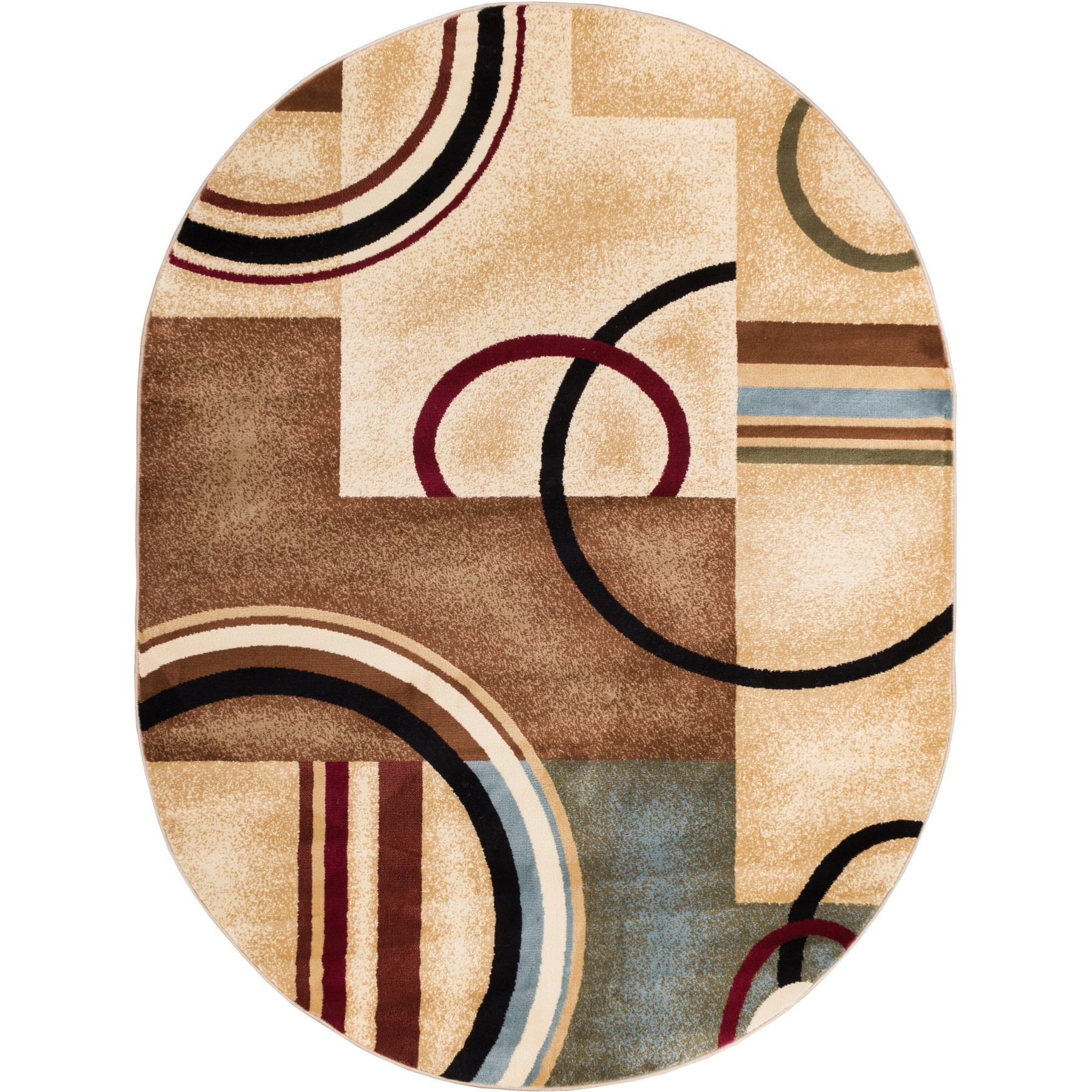 "Well Woven Barclay Arcs & Shapes Modern Abstract Geometric Red 7'10"" x 9'10"" Area Rug"