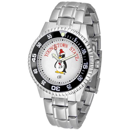 Ncaa Competitor Metal Band Watch - Youngstown State Penguins NCAA
