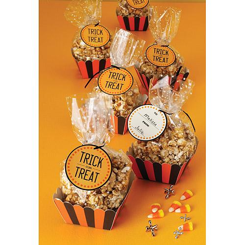 Treat Bags W/basket 8/pkg-carnival