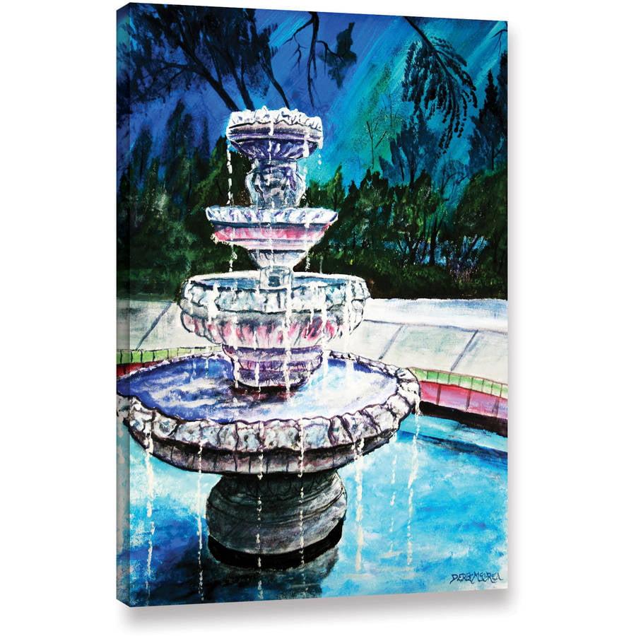 """ArtWall Derek Mccrea """"Water Fountain"""" Gallery-wrapped Canvas by ArtWall"""