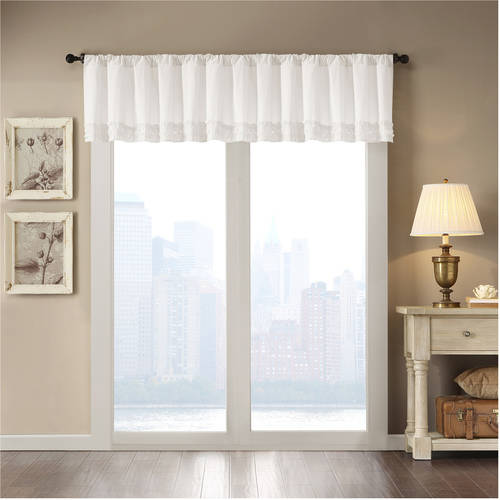 Home Essence Laurie Cotton Horizontal Ruffle Valance