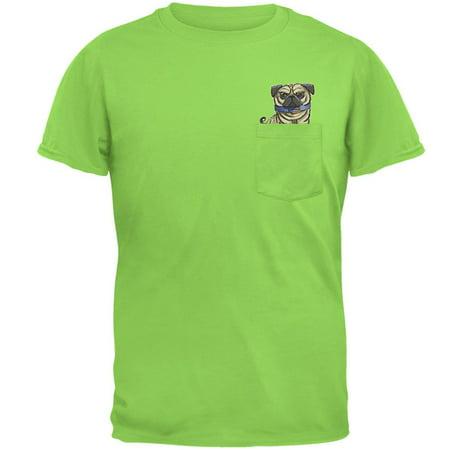 Grumpy Pug Off Pocket Pet Funny Mens Pocket T Shirt - Mens Pug Onesie