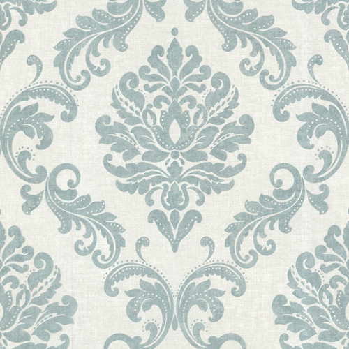 Brewster Home Fashions Zinc Sebastion Damask Wallpaper Sample