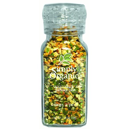 Simply Organic Citrus A'peel Seasoning Blend Certified Organic 2.54 oz. grinder-top bottle (Cyrus Spice)