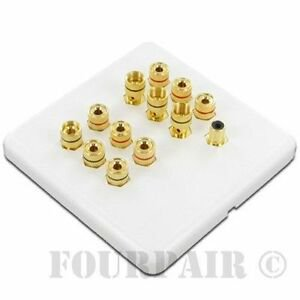 6 Speaker  1 Subwoofer Wall Plate 6.1 Home Theater Surround Sound White (5.1) -  Unbranded/Generic