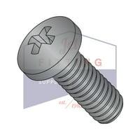 "2-56 x 7/16"" Machine Screws   Phillips   Pan Head   18-8 Stainless Steel   Black Oxide (Quantity: 7000)"