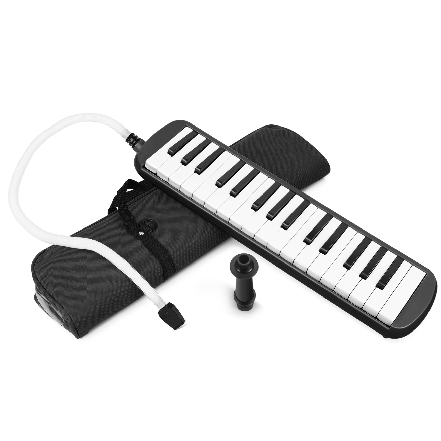 32 Keys Melodica  Musical Instrument with Carrying Bag Black