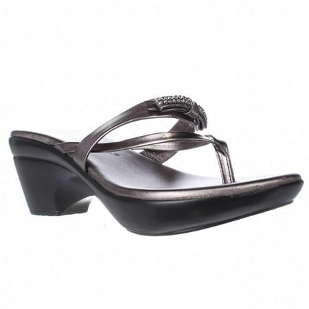 31a94b59e Athena Alexander - Womens Athena Alexander Lassye Wedge Thong Dress Sandals  - Pewter - Walmart.com