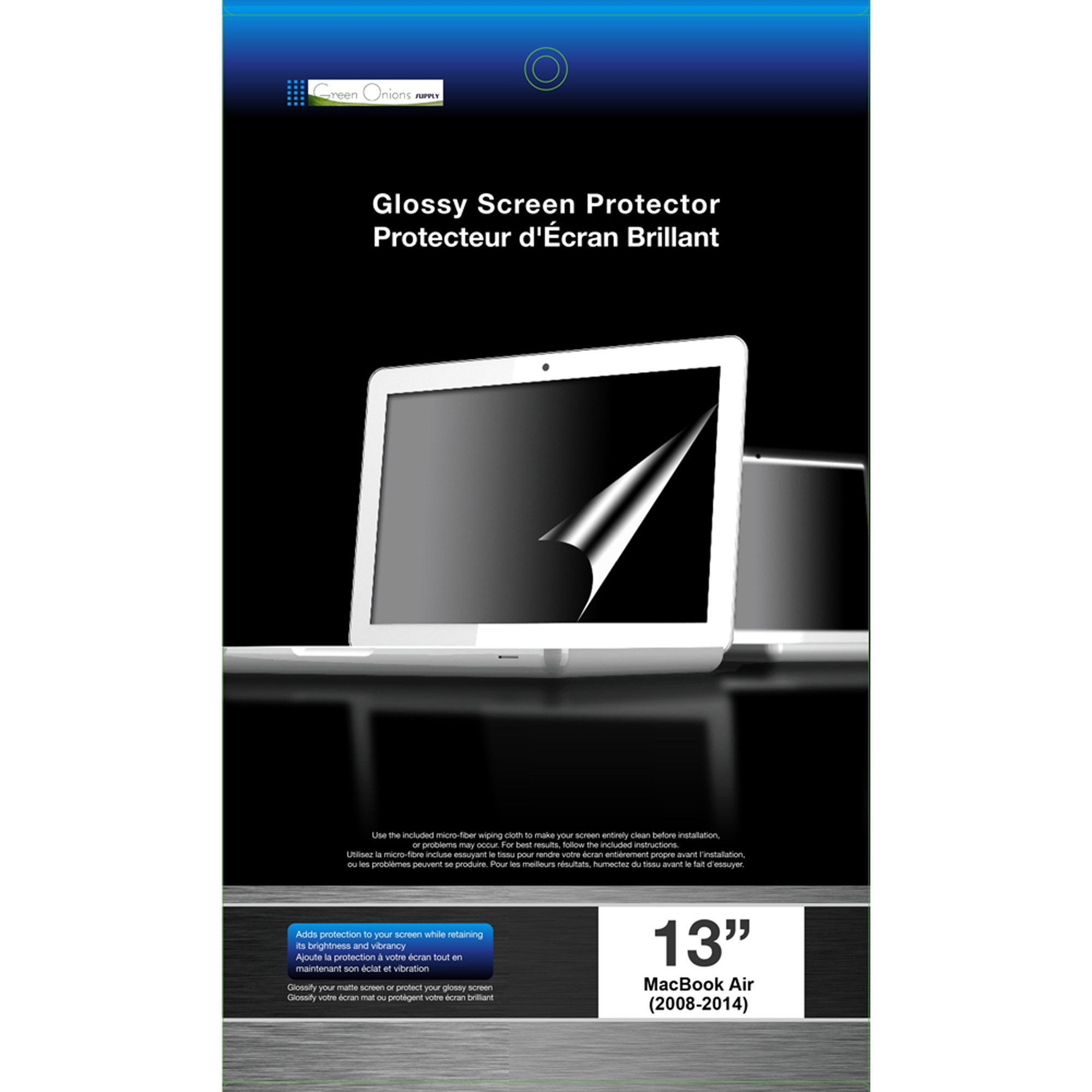 "Green Onions Supply Glossy Screen Protector for 13"" MacBook Air, Glossy"