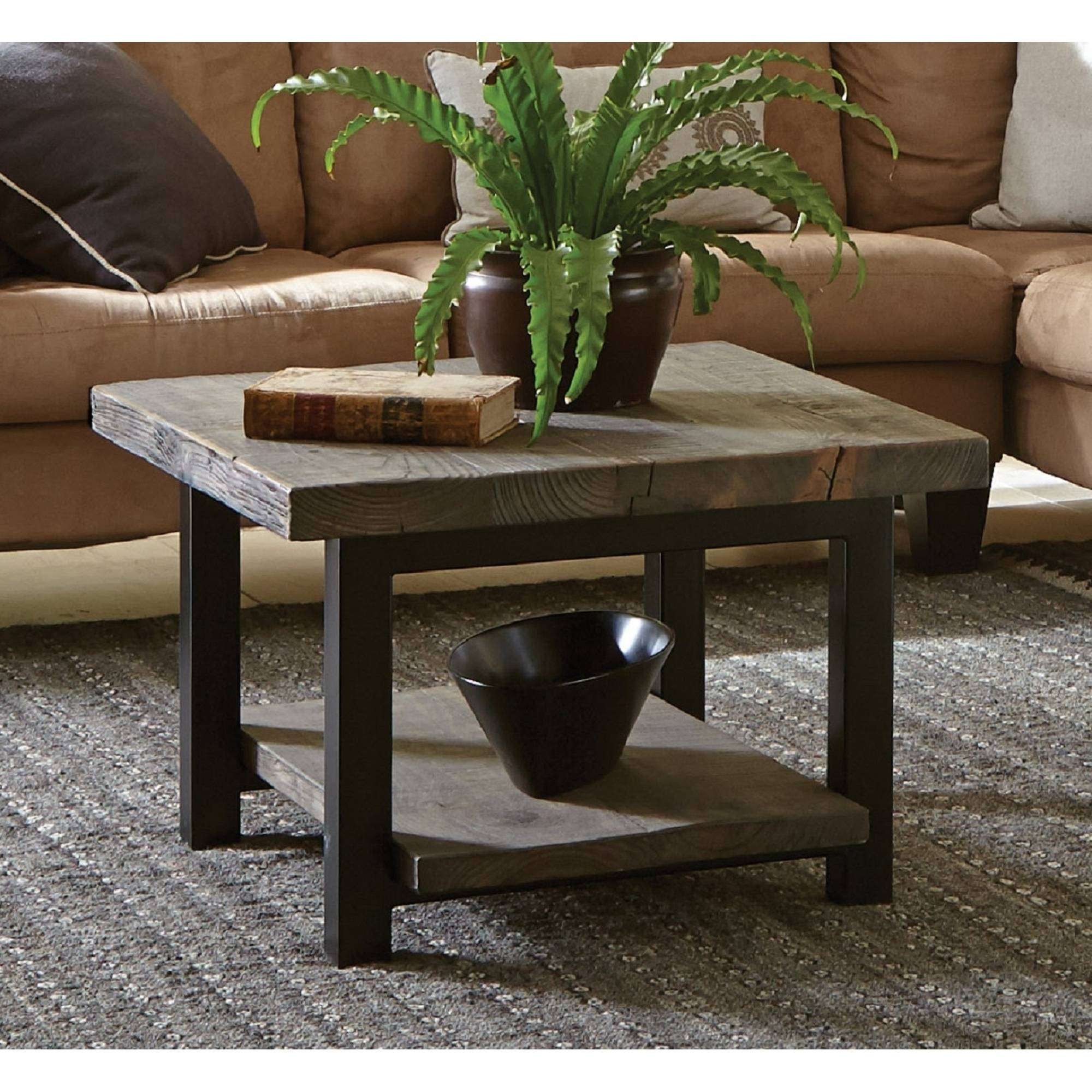 Pomona Cube Coffee Table, Rustic Natural