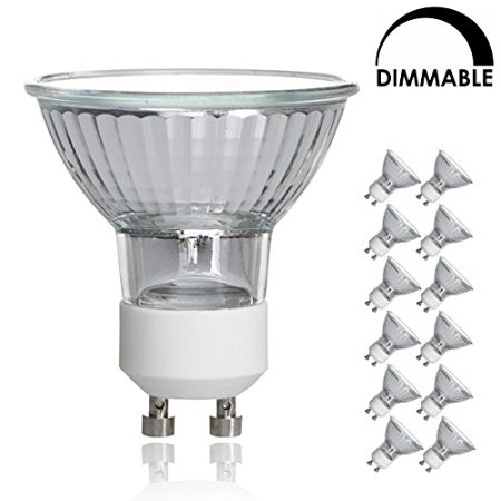 luxrite lr20490 12 pack 35w gu10 120v 35 watt mr16 halogen light bulb glass cover dimmable. Black Bedroom Furniture Sets. Home Design Ideas