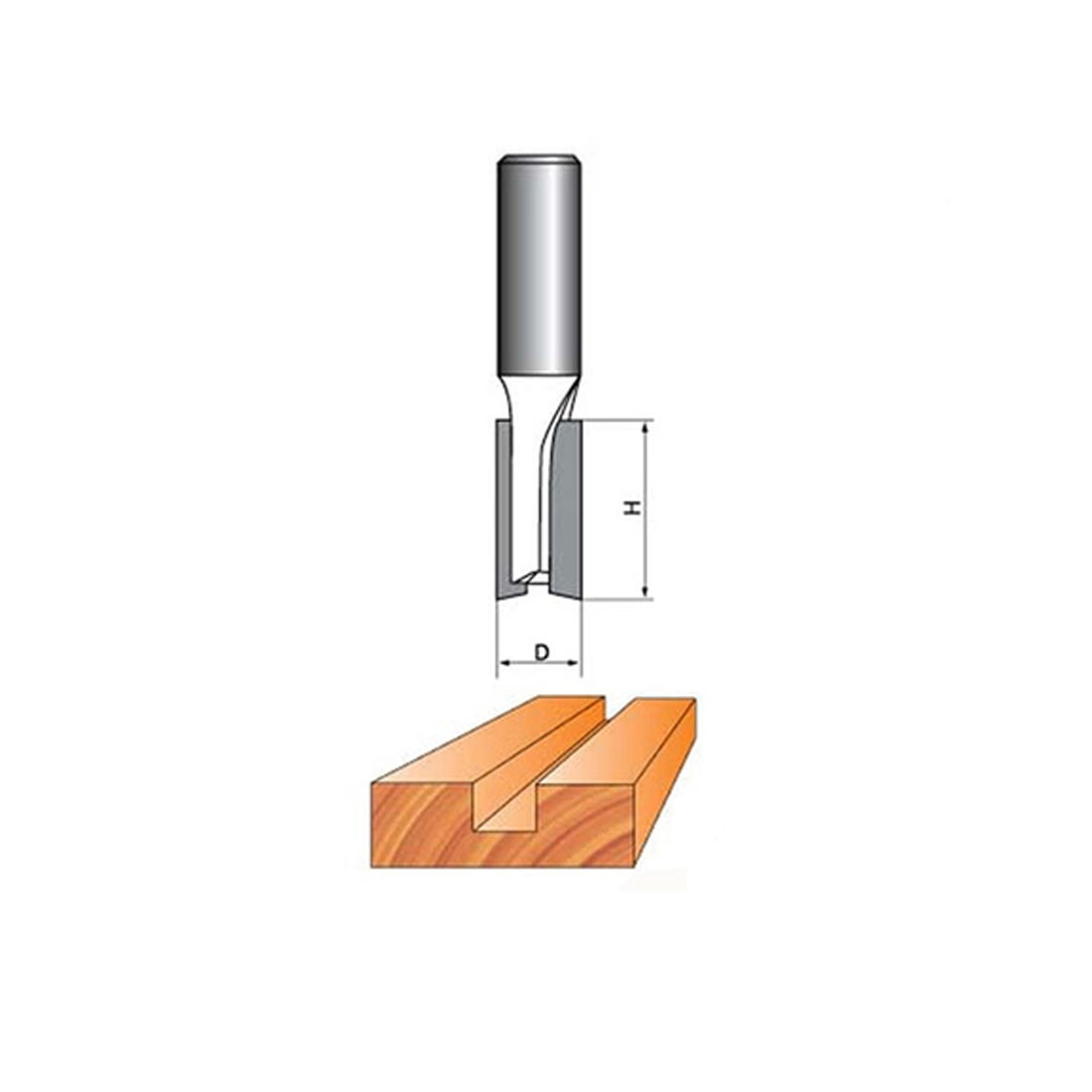 1/2-inch Shank 3/4-inch Cutting Dia 2 Flutes Straight Router Bit Cutter - image 2 of 5