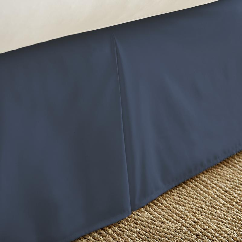 Noble Linens Premium Pleated Bedskirt Dust Ruffle by ienjoy Home