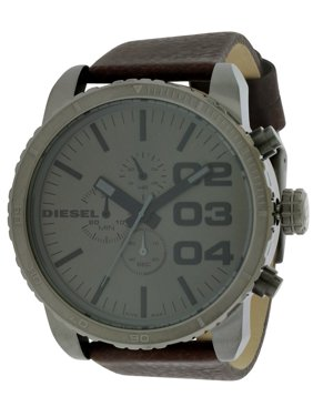 Diesel Men's Chronograph Brown Leather Watch DZ4210