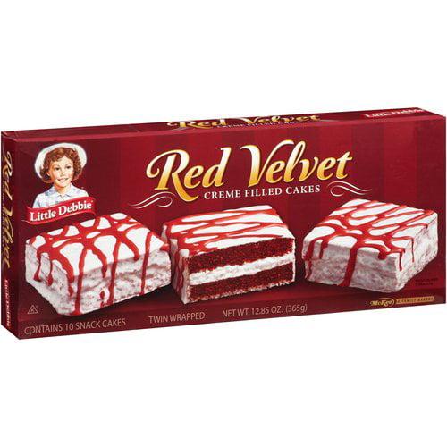 Little Debbie Red Velvet Creme Filled Snack Cakes, 10 ct, 12.85 oz