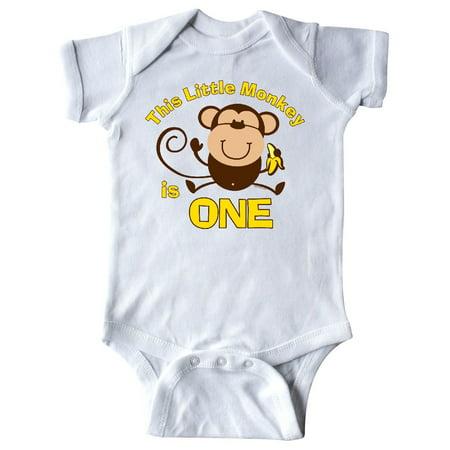 Little Monkey 1st Birthday Boy Infant Creeper - Monkey Onesie
