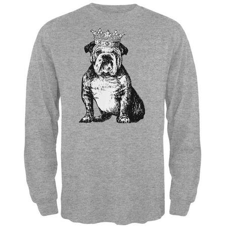 Bulldog Crown Mens Long Sleeve T Shirt