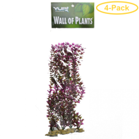 Yup Aquarium Decor Wall of Plants - Red & Green 1 Pack - Pack of 4